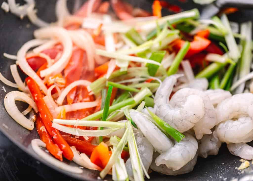 Stir Fry Shrimps