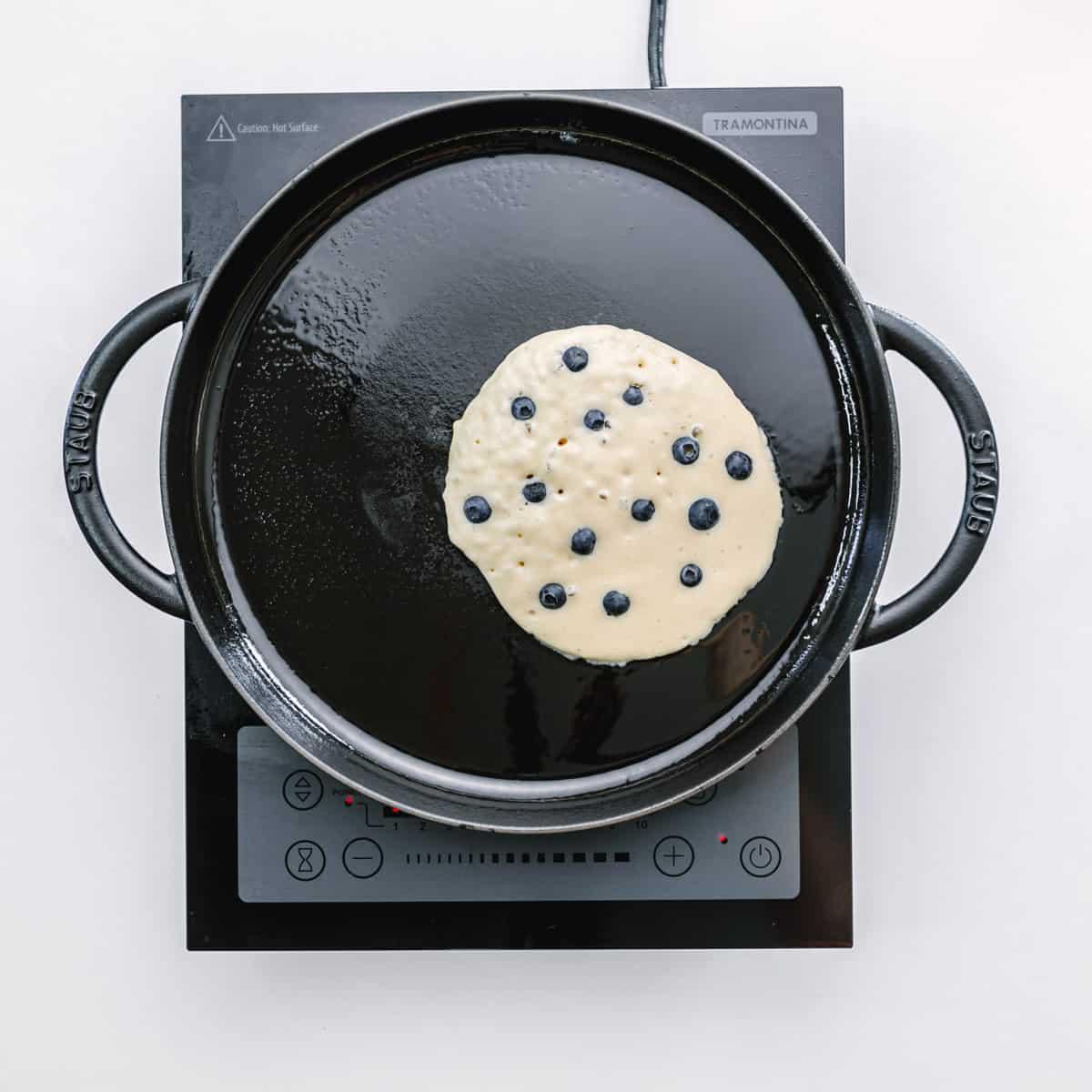 Fluffy blueberry pancakes