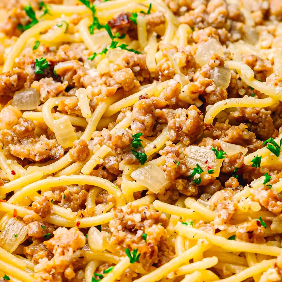 Creamy Bratwurst Pasta Recipe