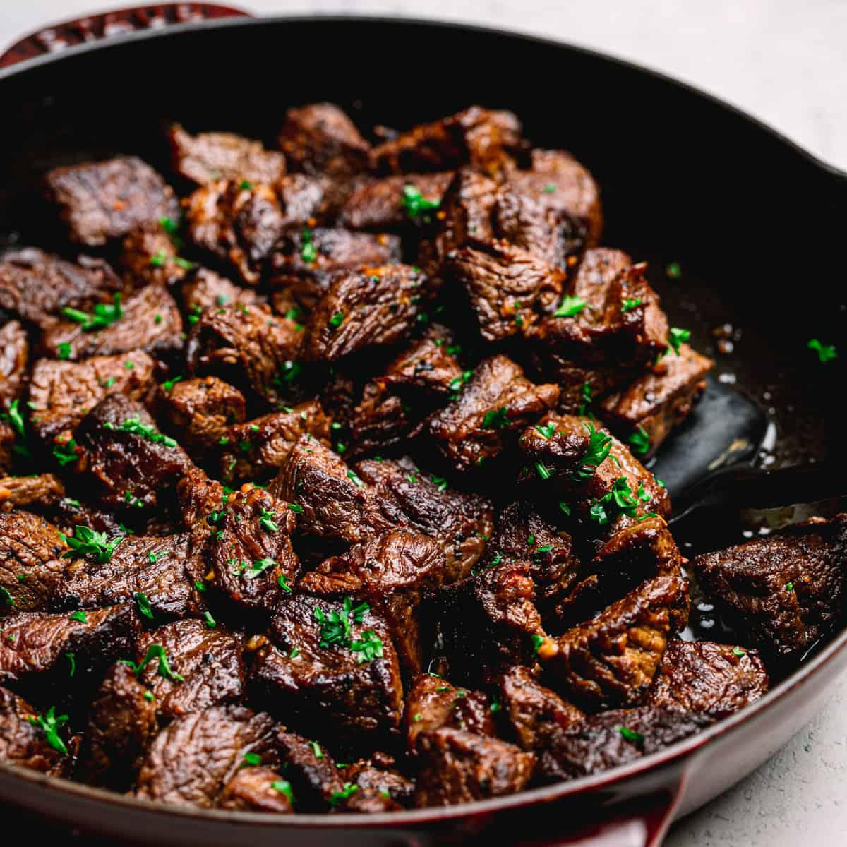 steak bites with garlic butter