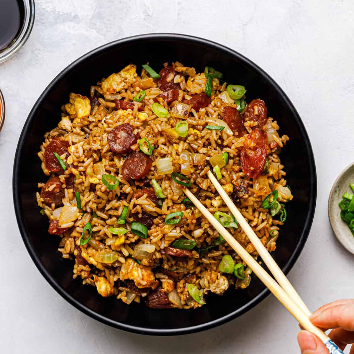 lop cheung chow fan 香肠炒饭