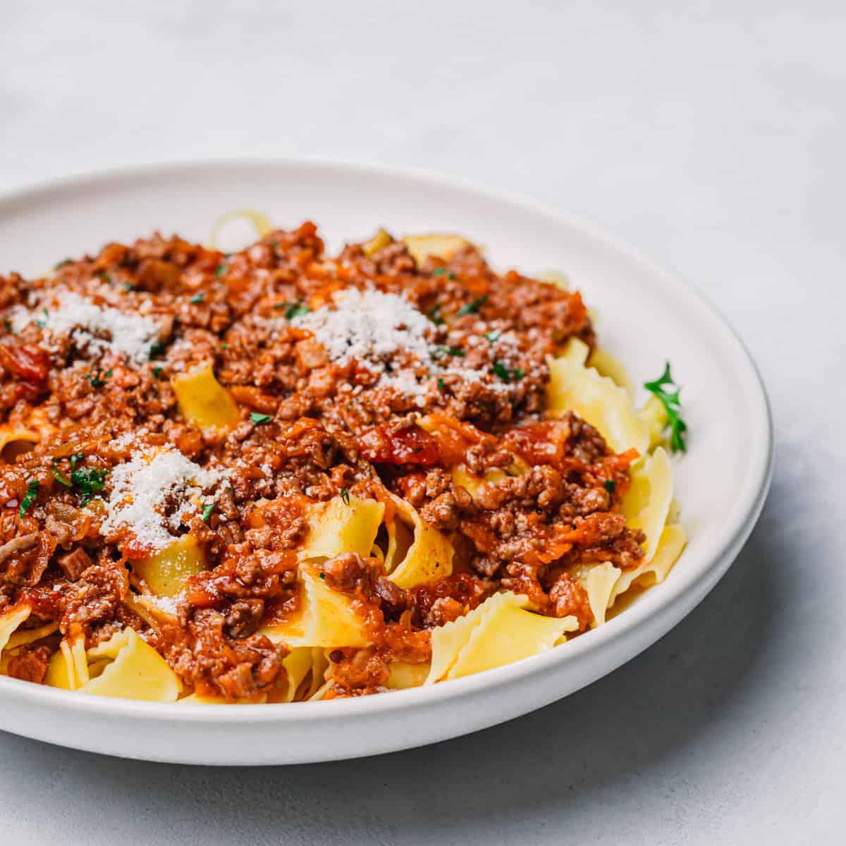 Pasta with Italian Meat Sauce