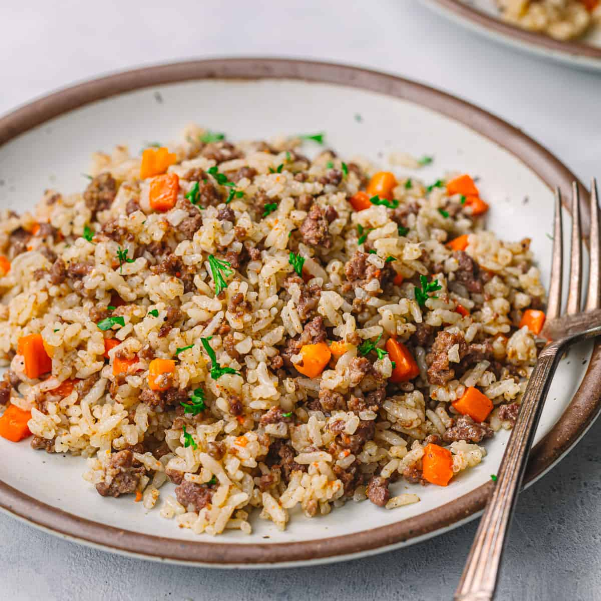 Middle Asia Ground Beef and Rice