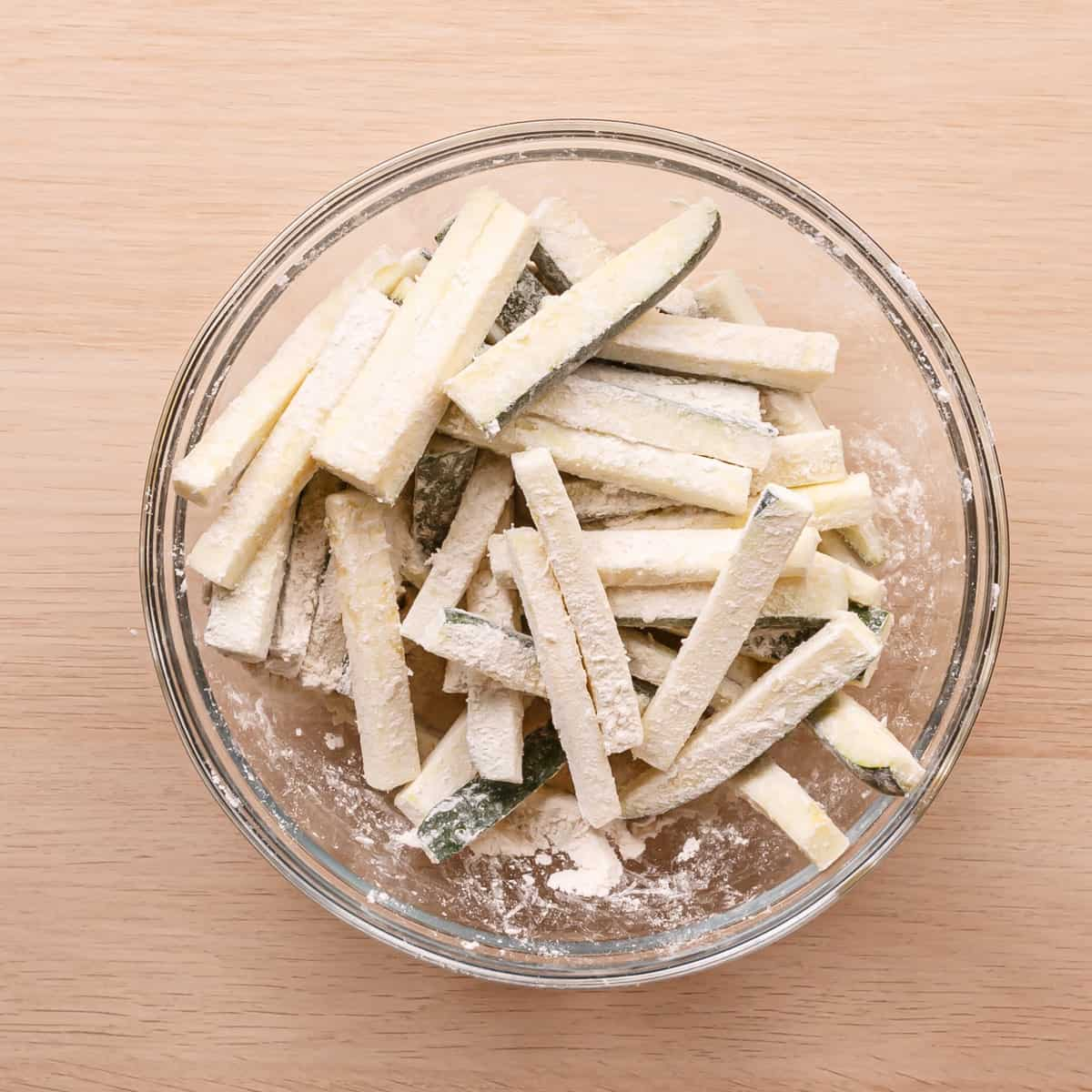 battered zucchini fries