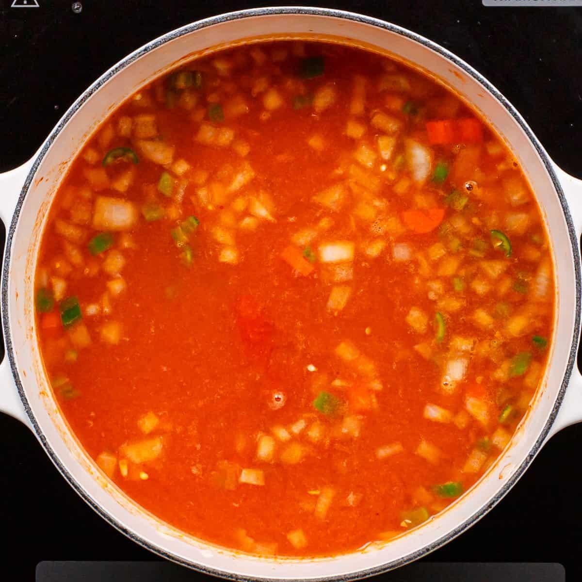 tomato based broth