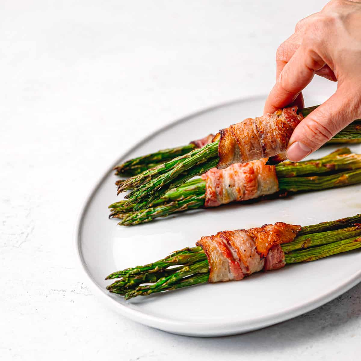 Oven Bacon Wrapped Asparagus