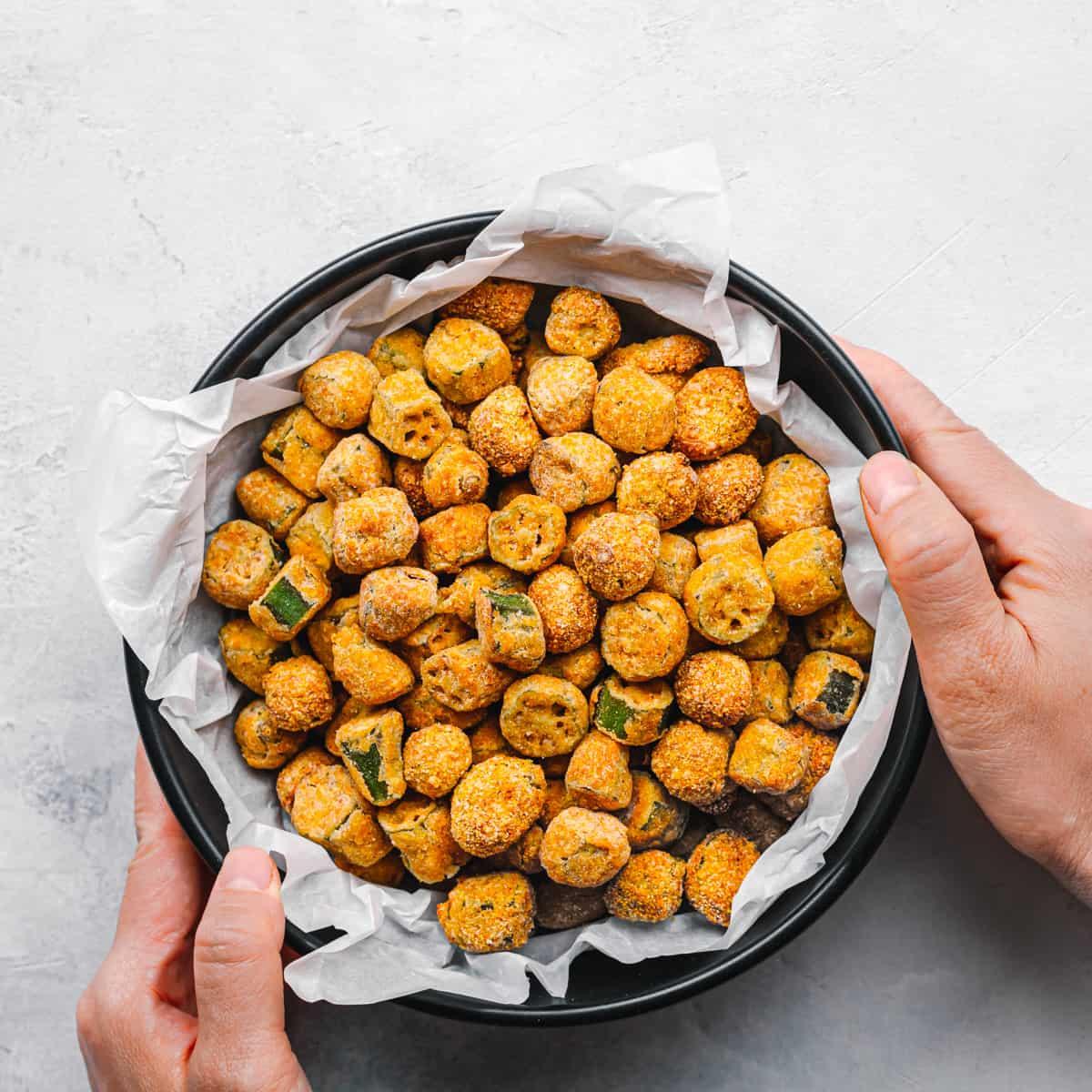 crispy air fried okra