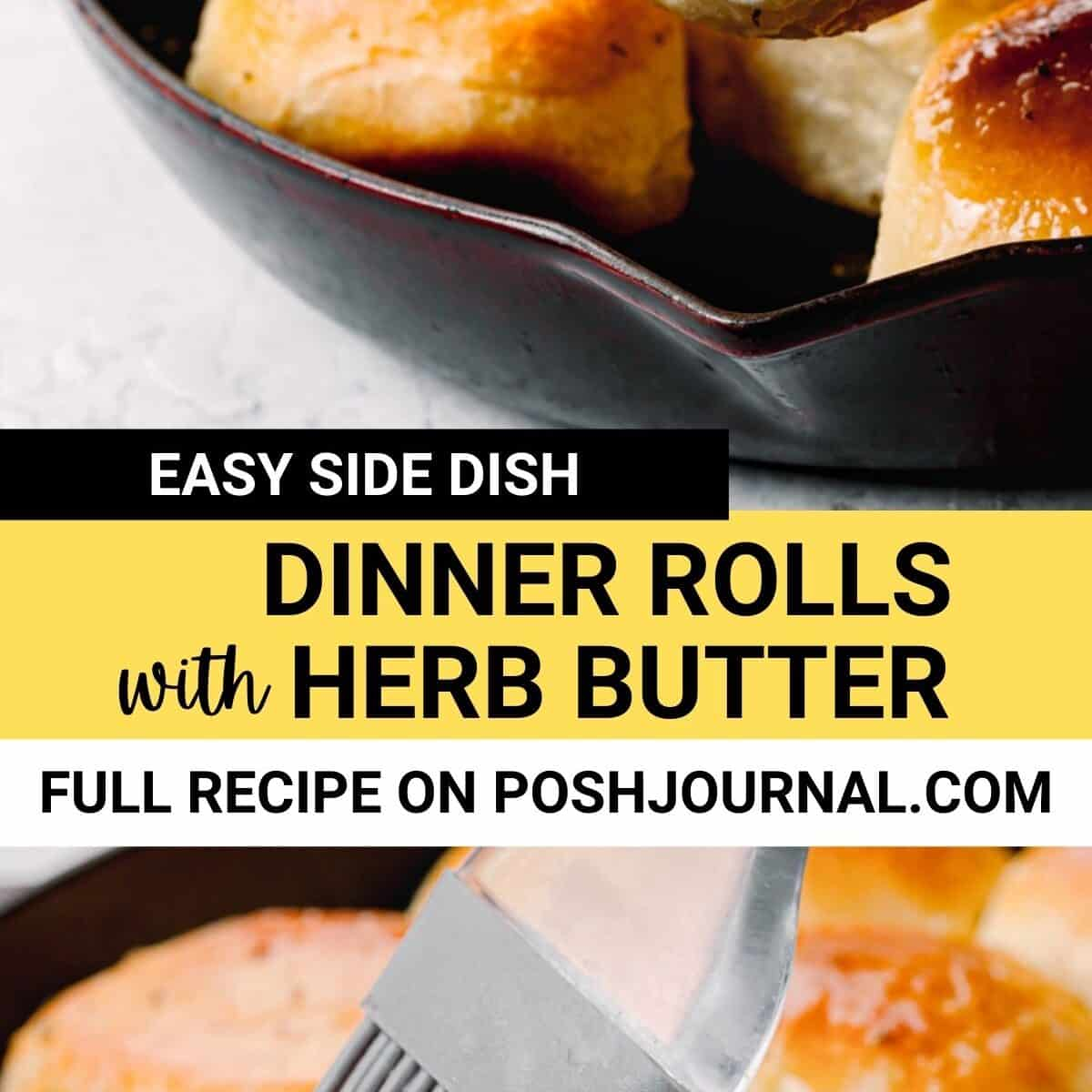 Easy Dinner Rolls with Herb Butter