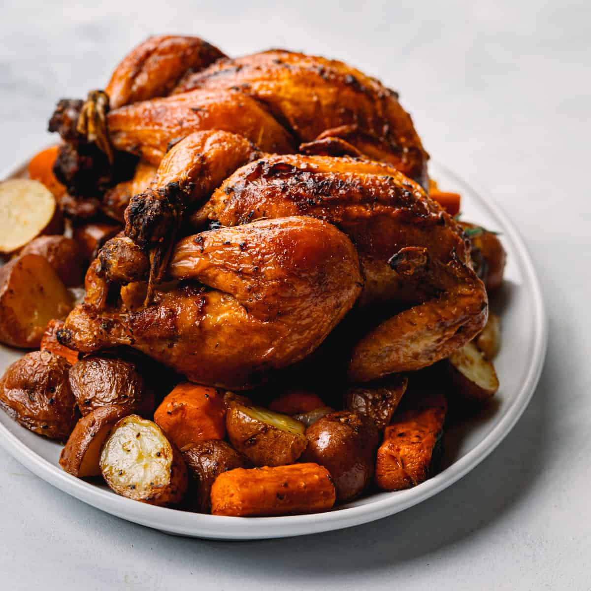 Roasted Cornish Hen with Vegetables