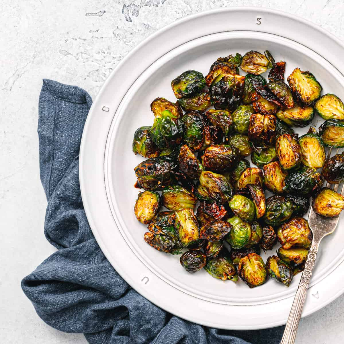 The Crispiest Air Fryer Brussels Sprouts