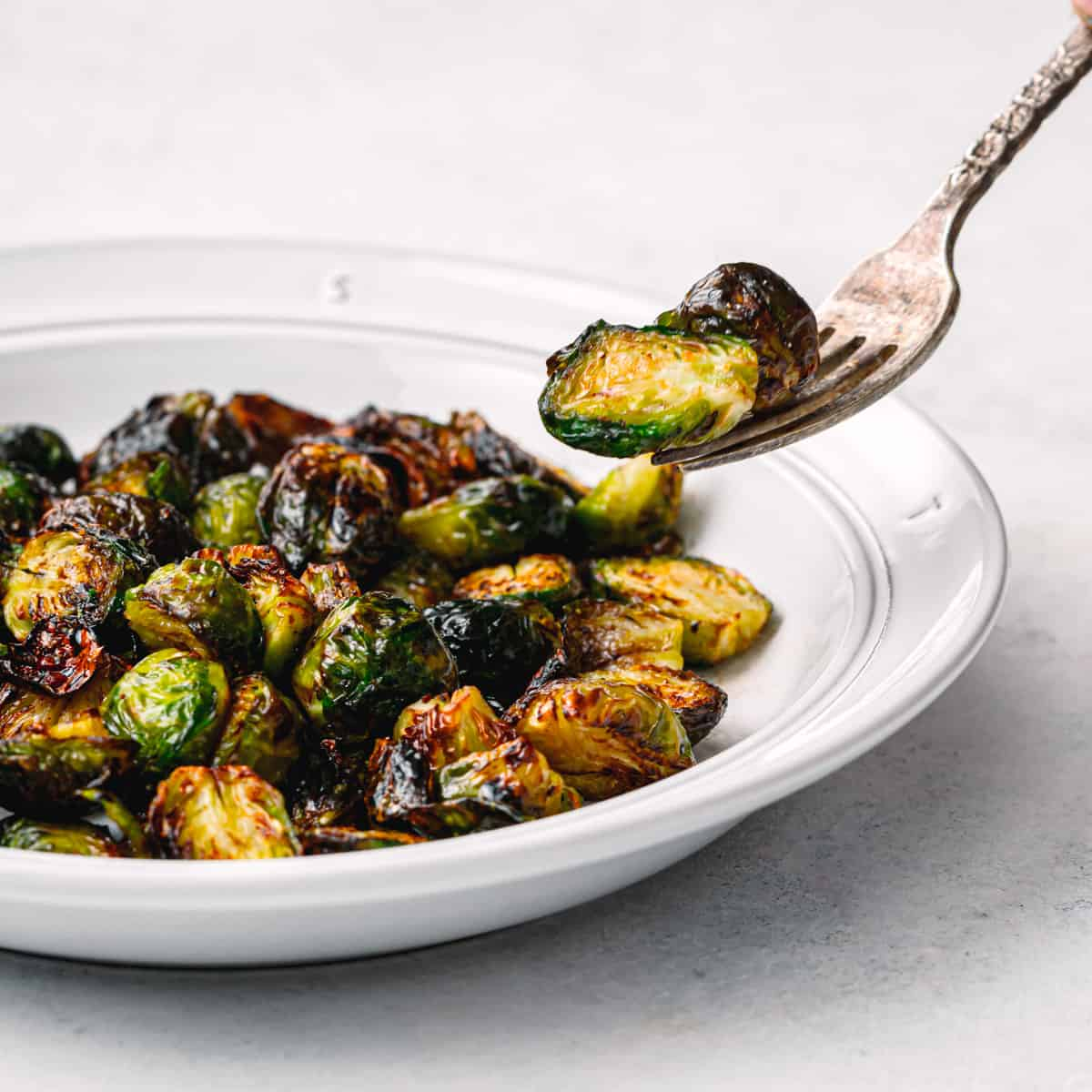 Crispy Brussels Sprouts with Balsamic Vinegar
