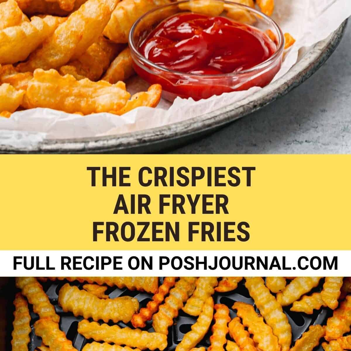 Air Fryer Frozen French Fries.