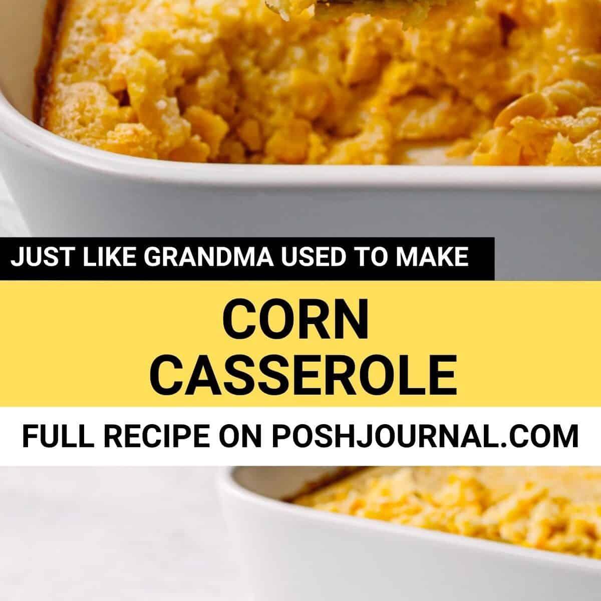 Corn Souffle - Corn Casserole