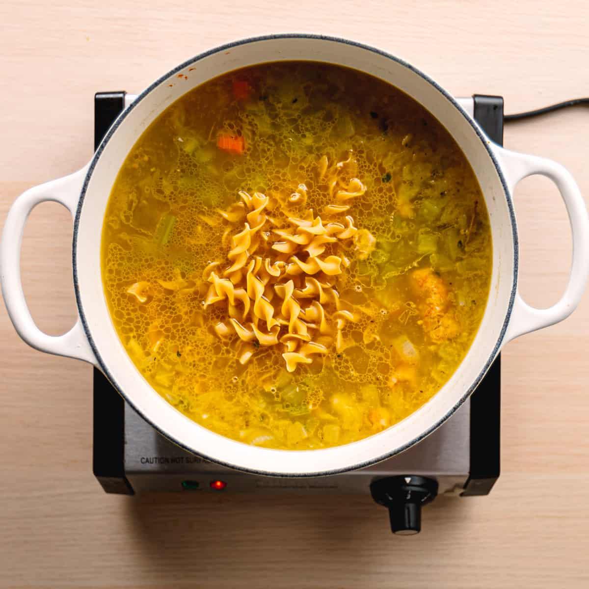 Egg Noodles Soup