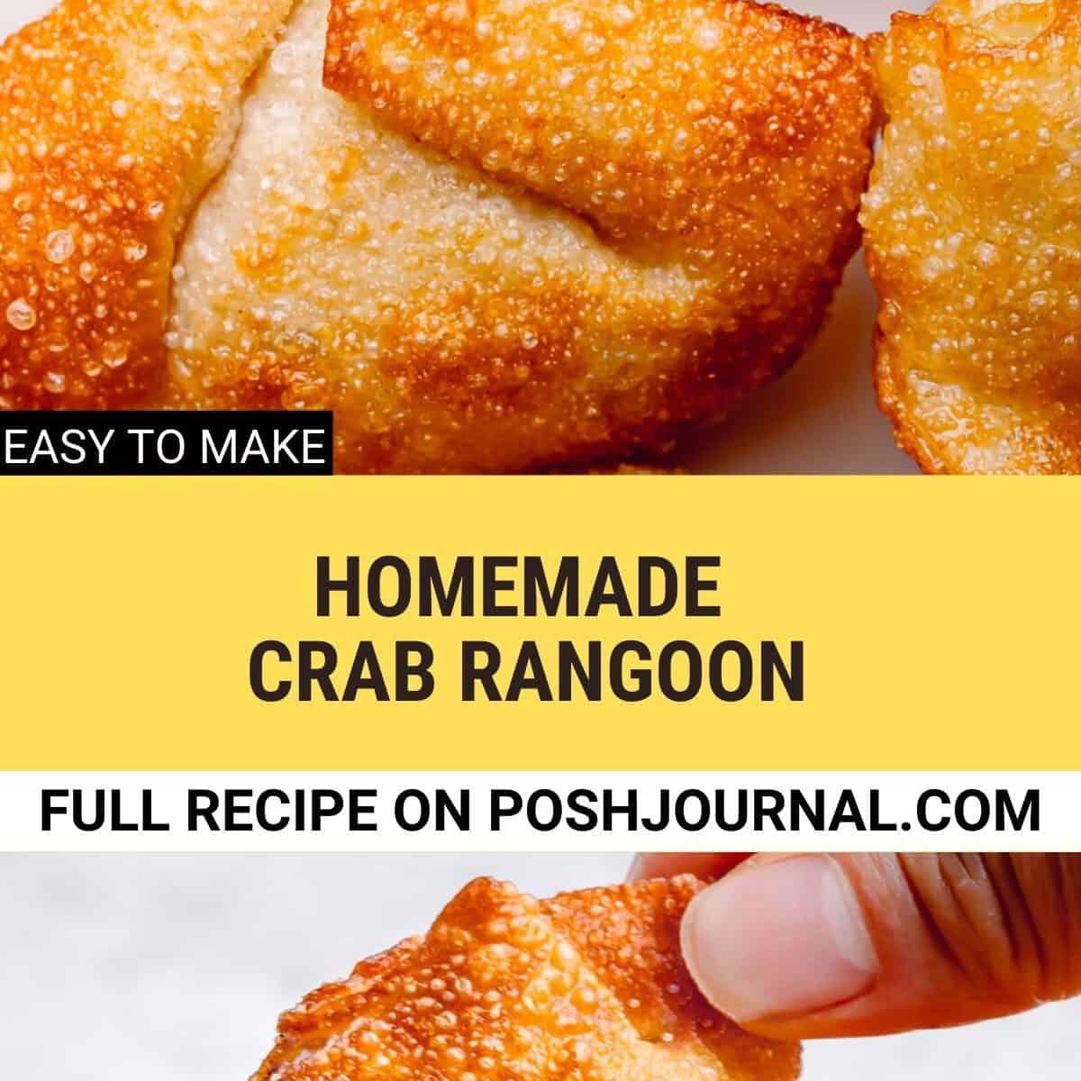 Homemade Crab Rangoon