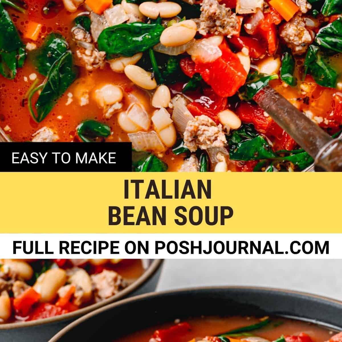 Italian bean soup recipe.