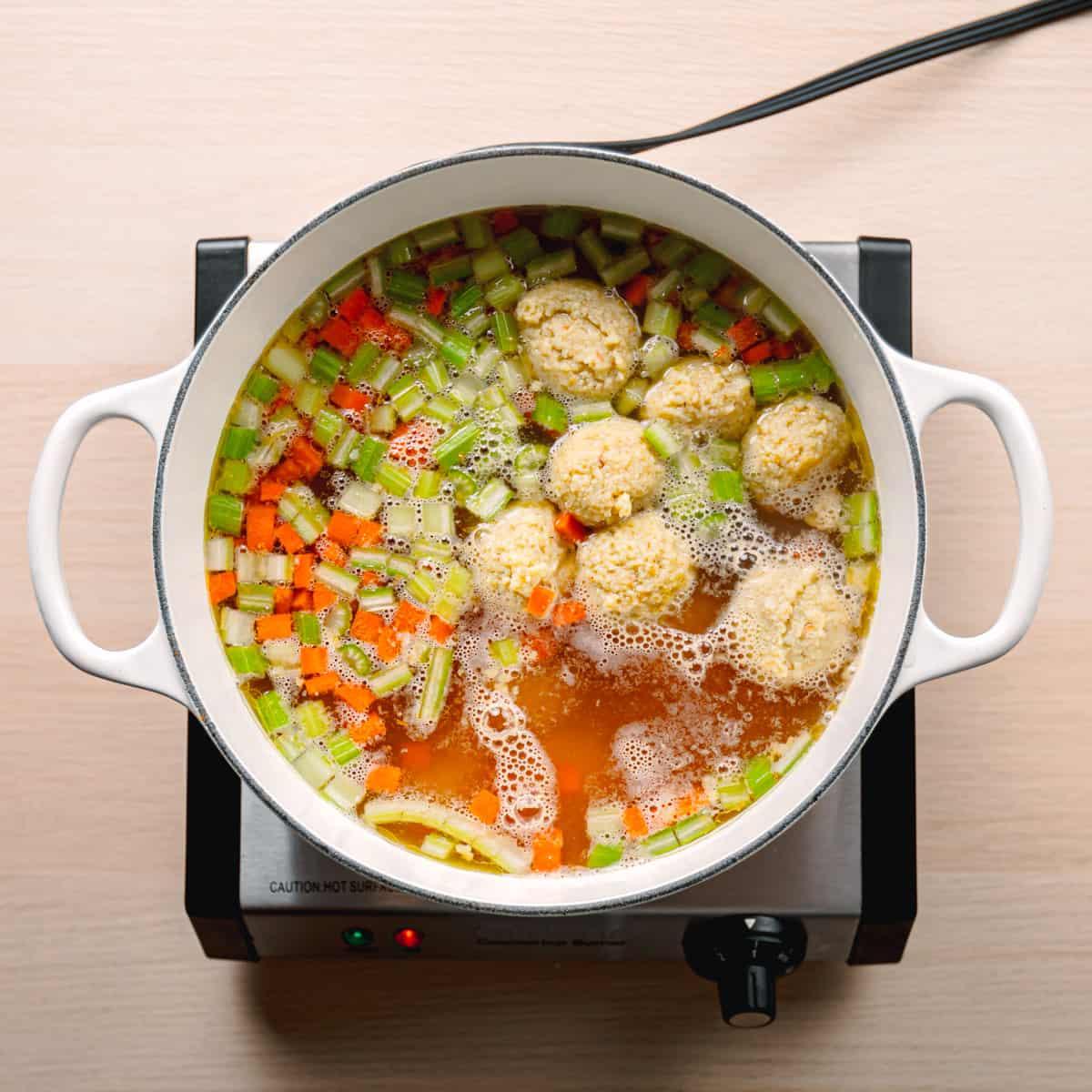 Jewish Dumpling in broth