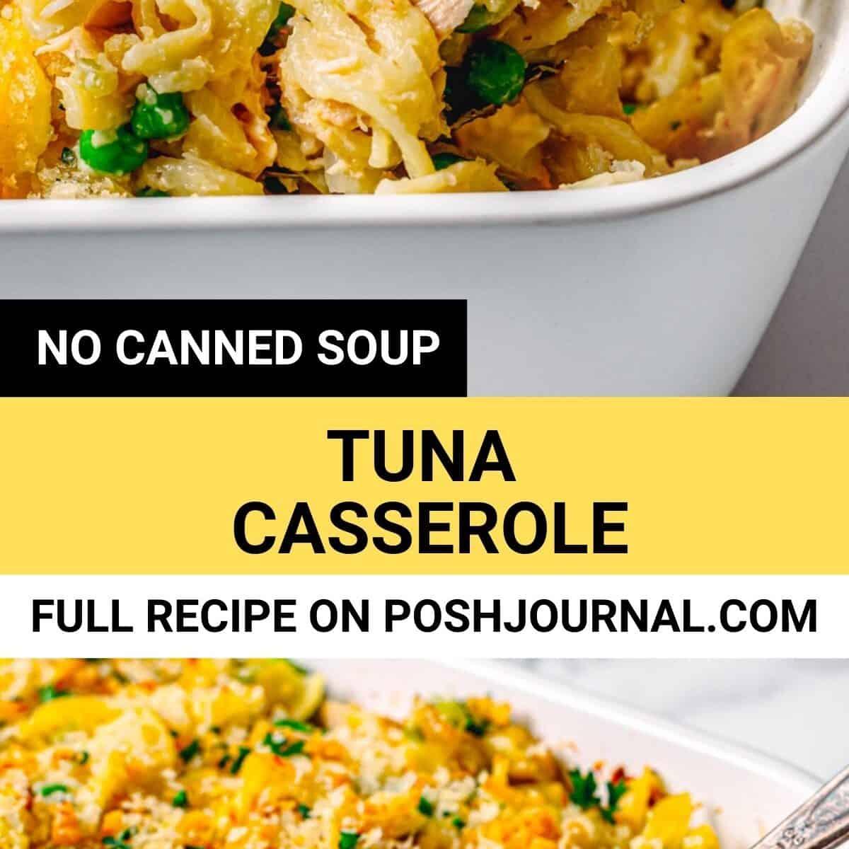 Old fashioned tuna casserole