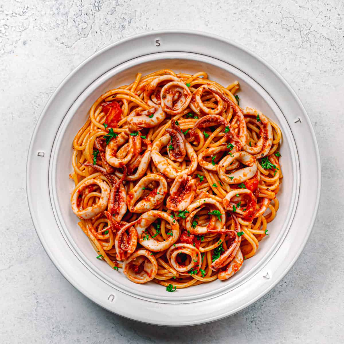 Squid Pasta Recipe