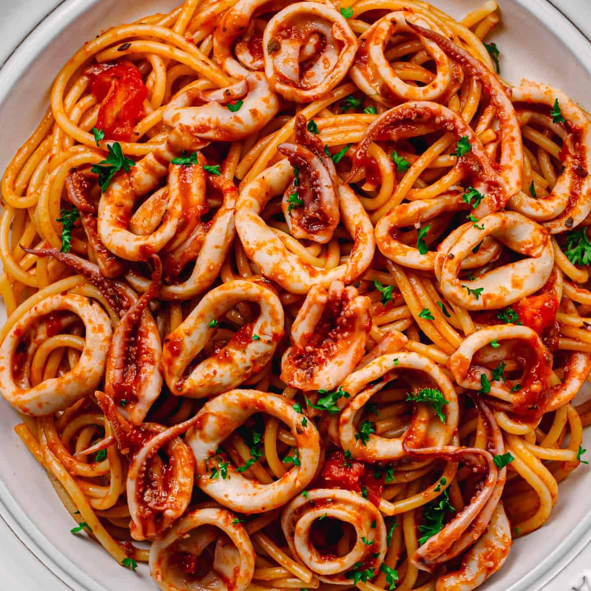 Italian Pasta with Squid