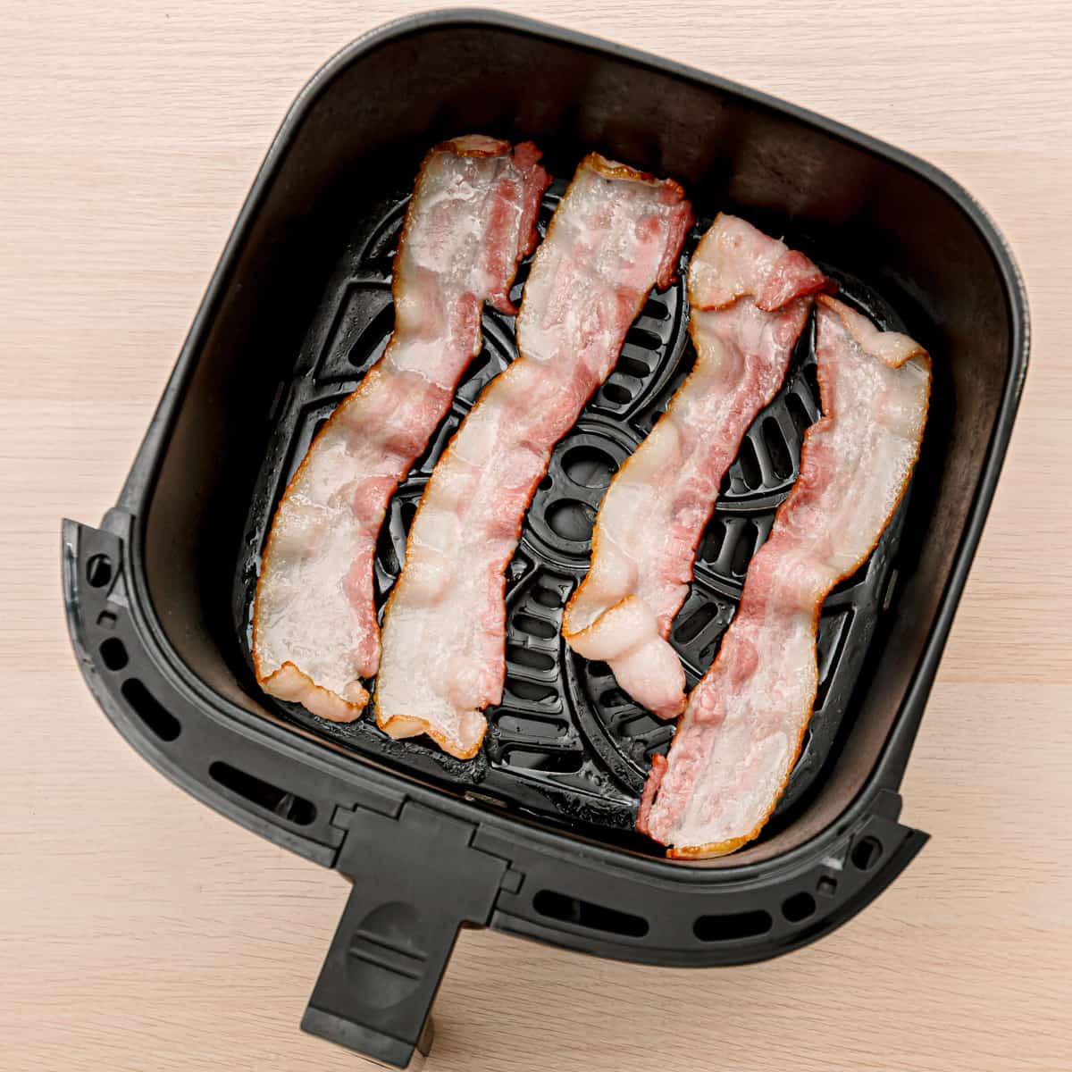 bacon in an air fryer.