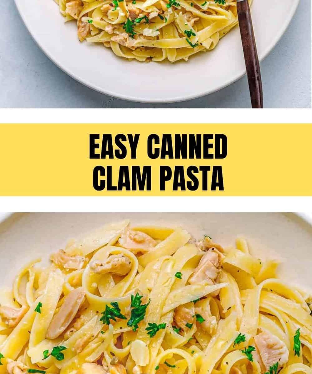 Canned Clam Pasta Recipe.