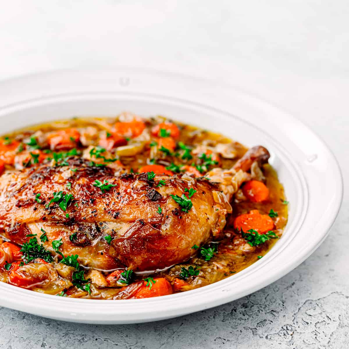 Crock Pot Chicken Stew with White Wine.