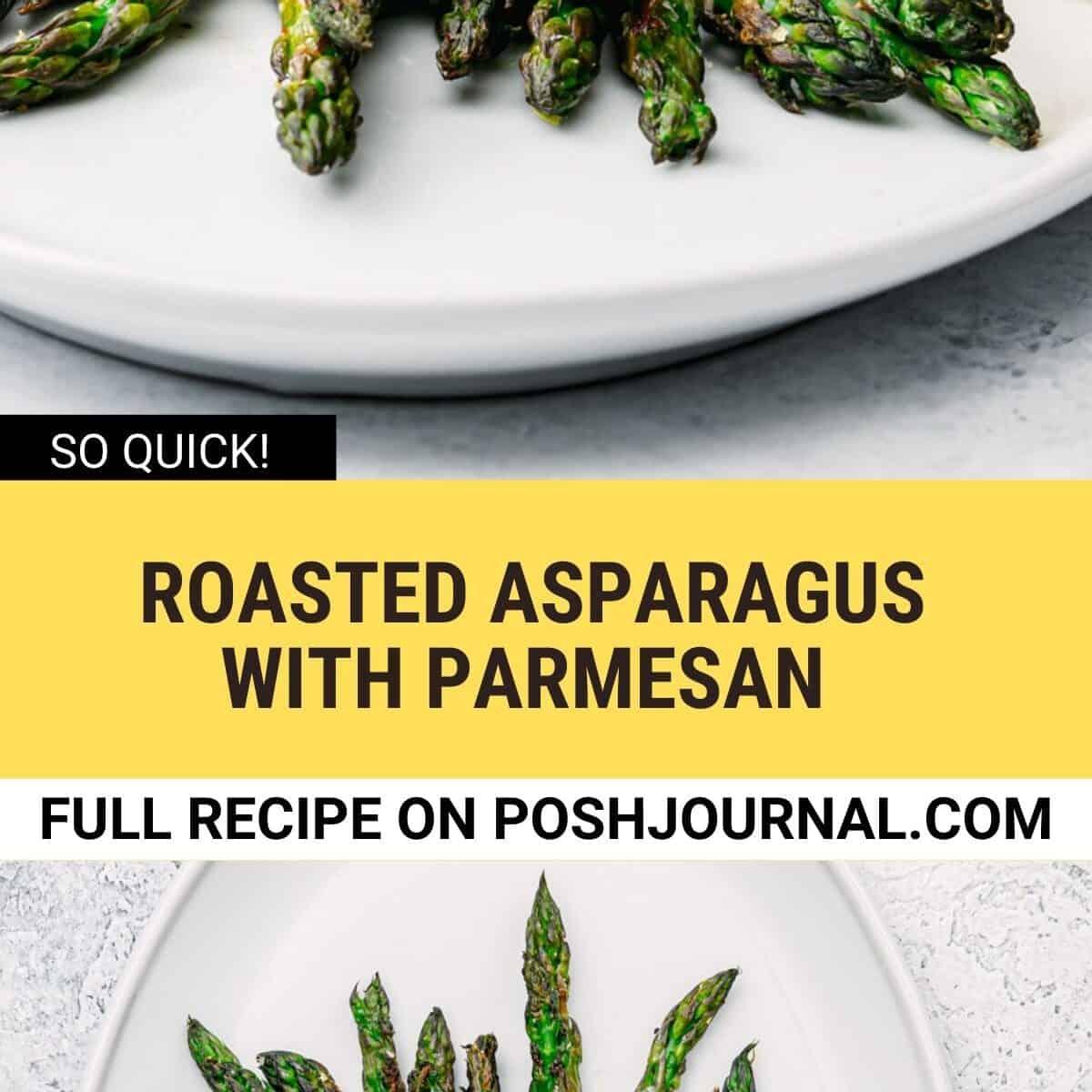 asparagus with parmesan, and lemon zest.