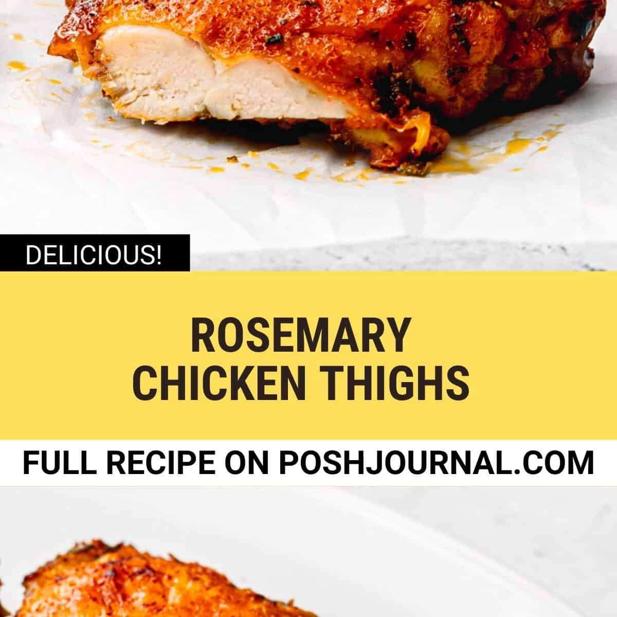 Oven Baked Rosemary Chicken Thighs