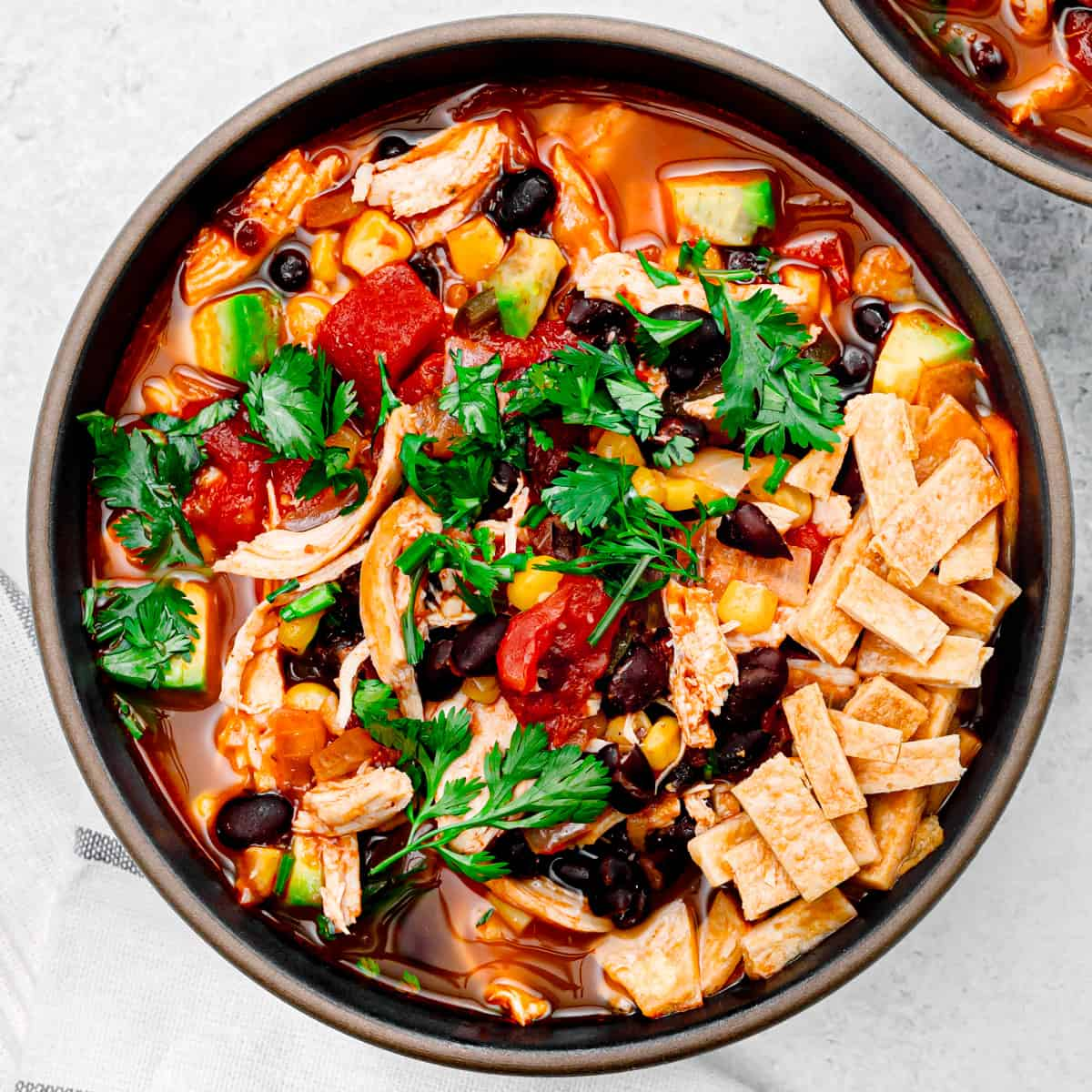 Chicken Tortilla Soup (Stove Top/Instant Pot/Slow Cooker)
