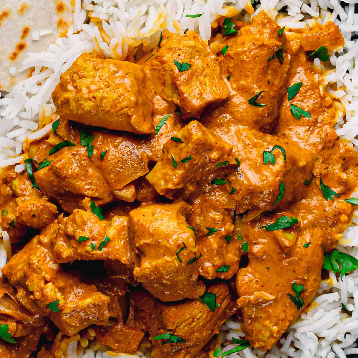 Chicken with Curry Sauce.