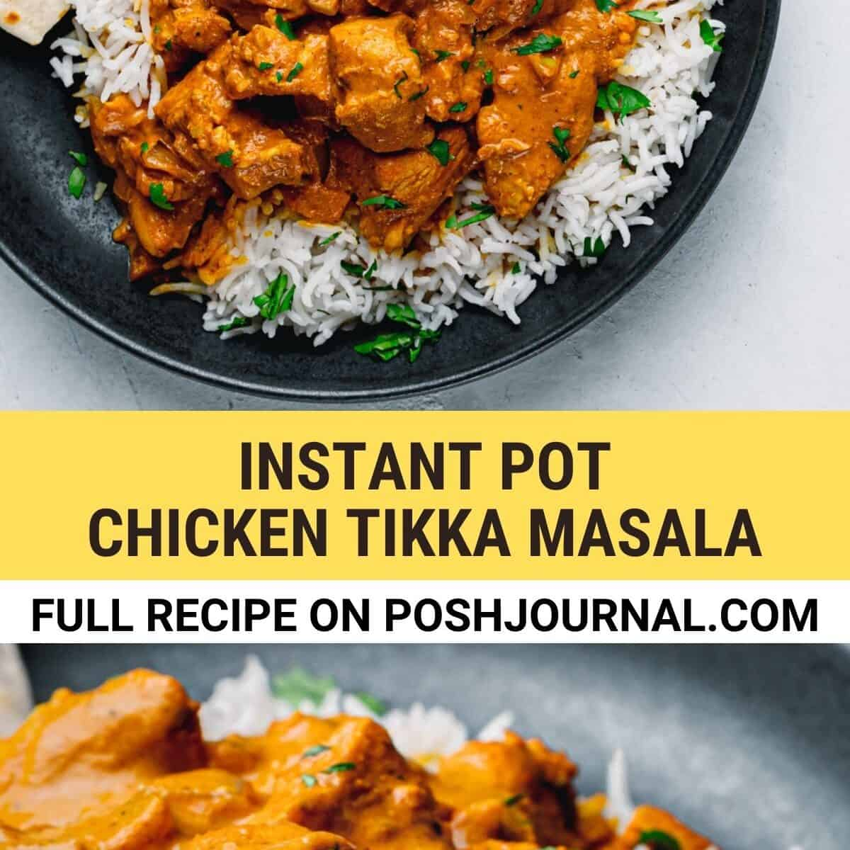 Instant Pot Chicken Tikka Masala Recipe Pinterest.