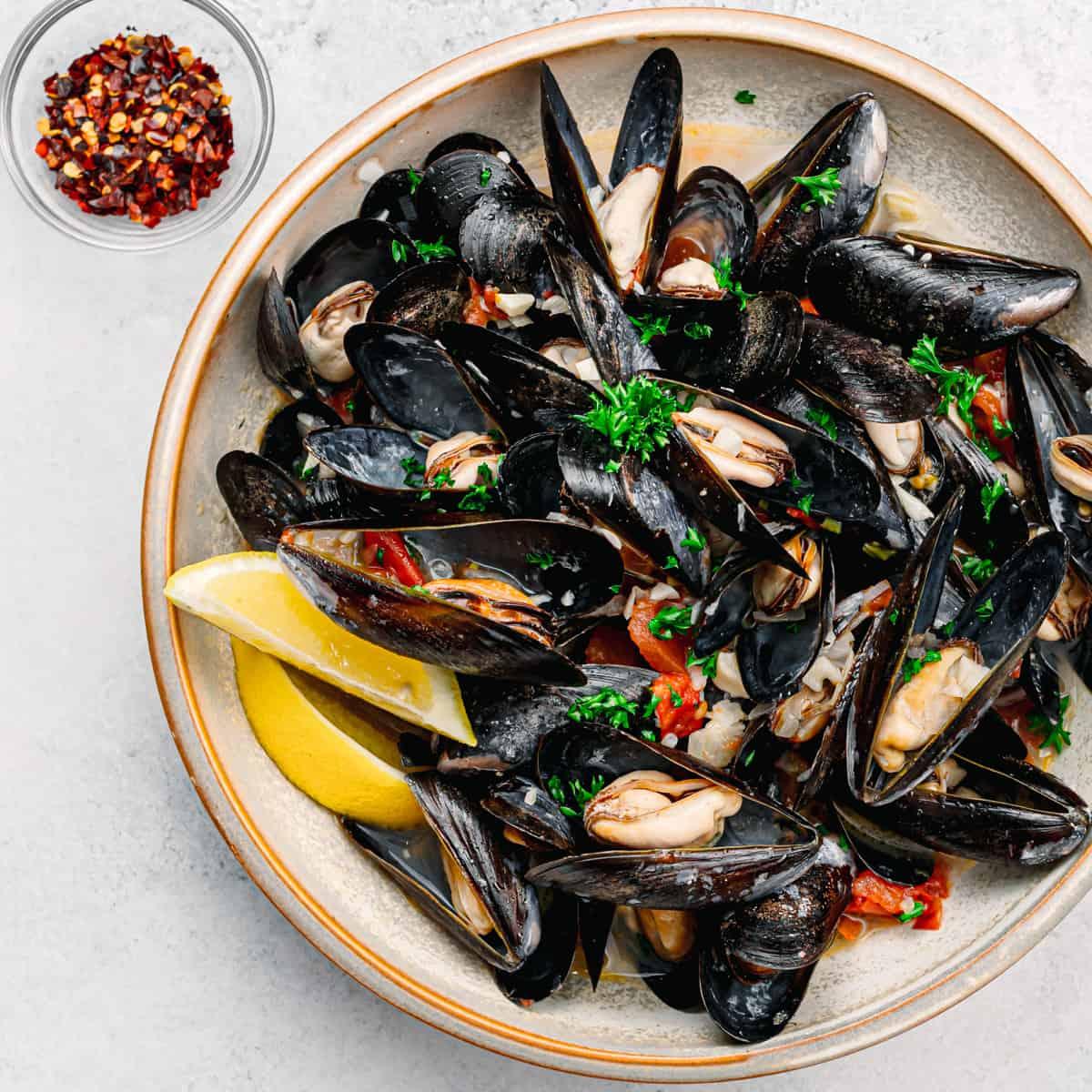 Instant Pot Mussels.