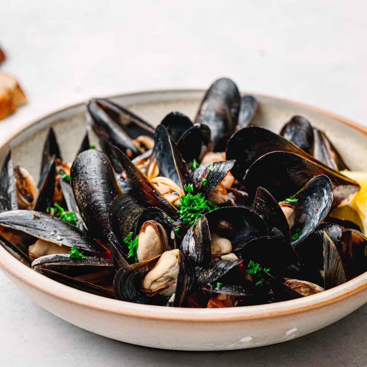 Instant Pot Mussels with White Wine.