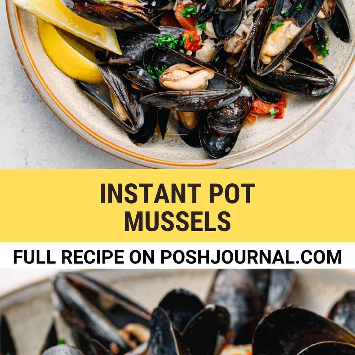Instant Pot Mussels Recipe.