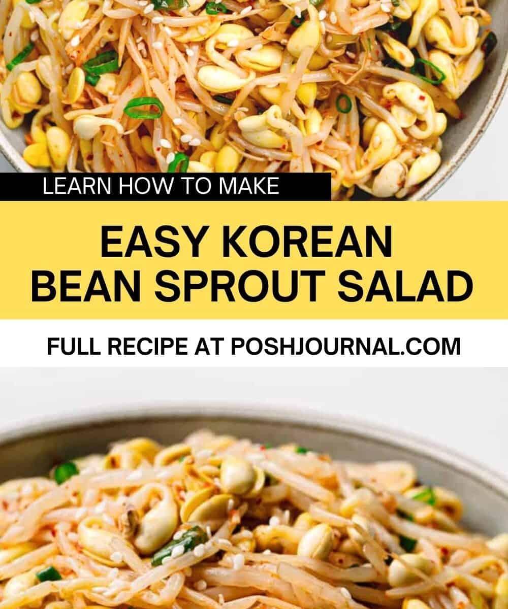 Korean Bean Sprout Salad Recipe.