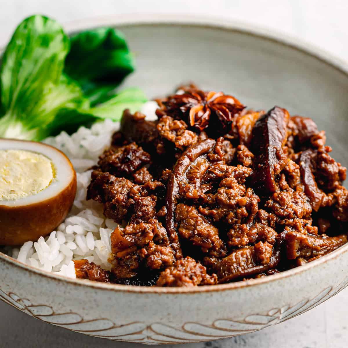 Asian minced pork recipe.