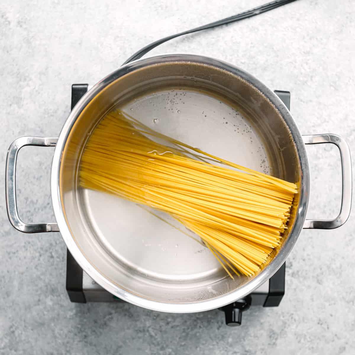cooking pasta.