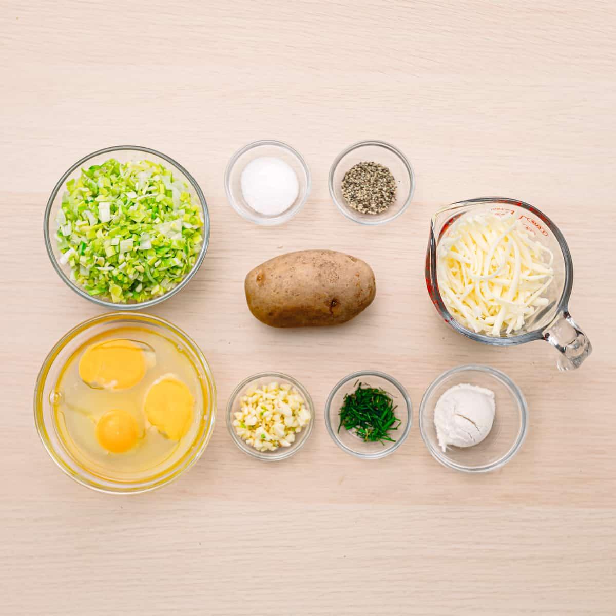 Potato Rosti Ingredients.