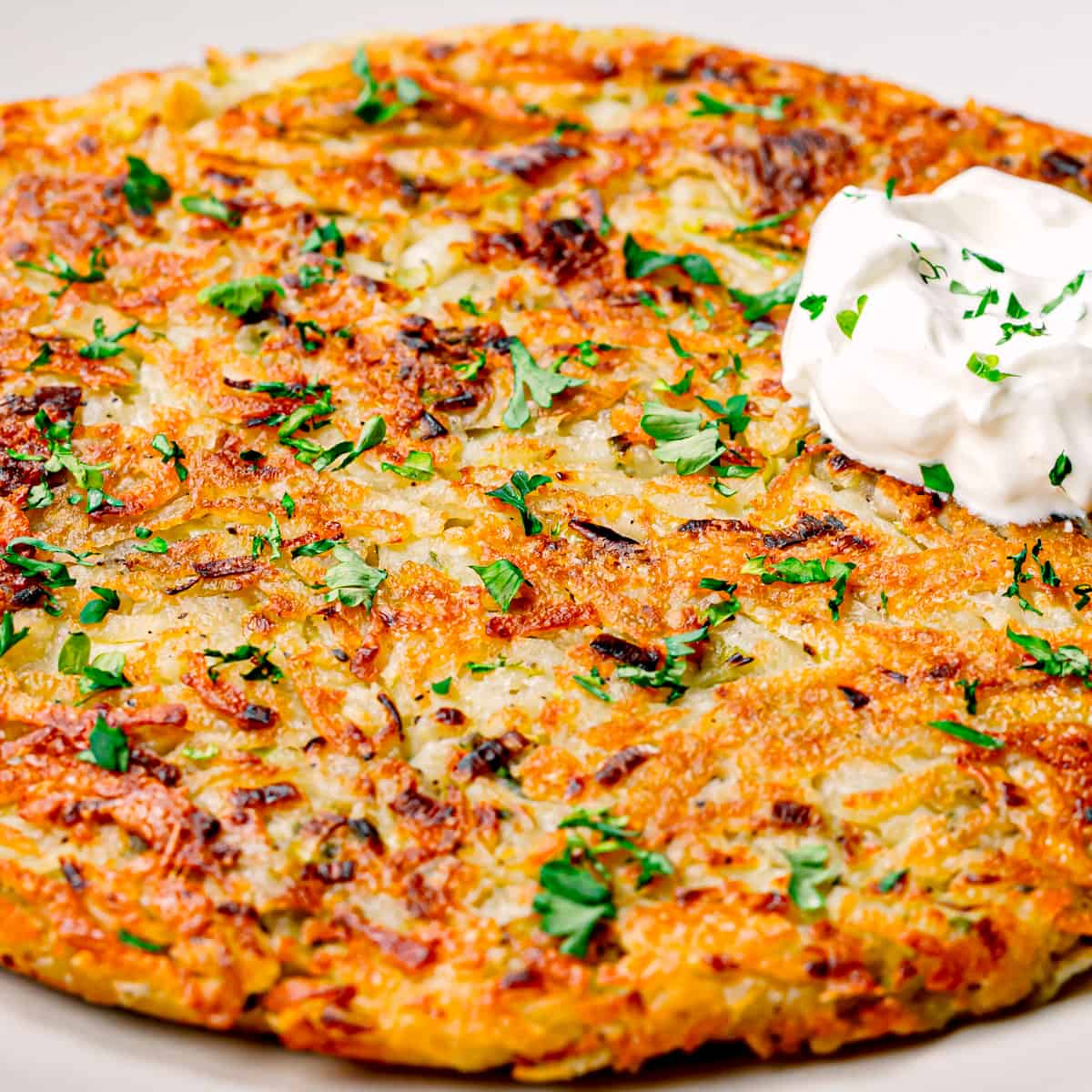 rosti with leek pancakes.