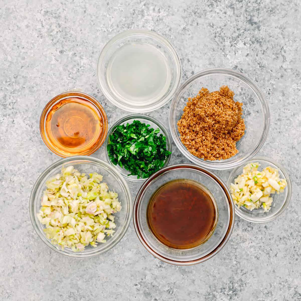marinade sauce ingredients.