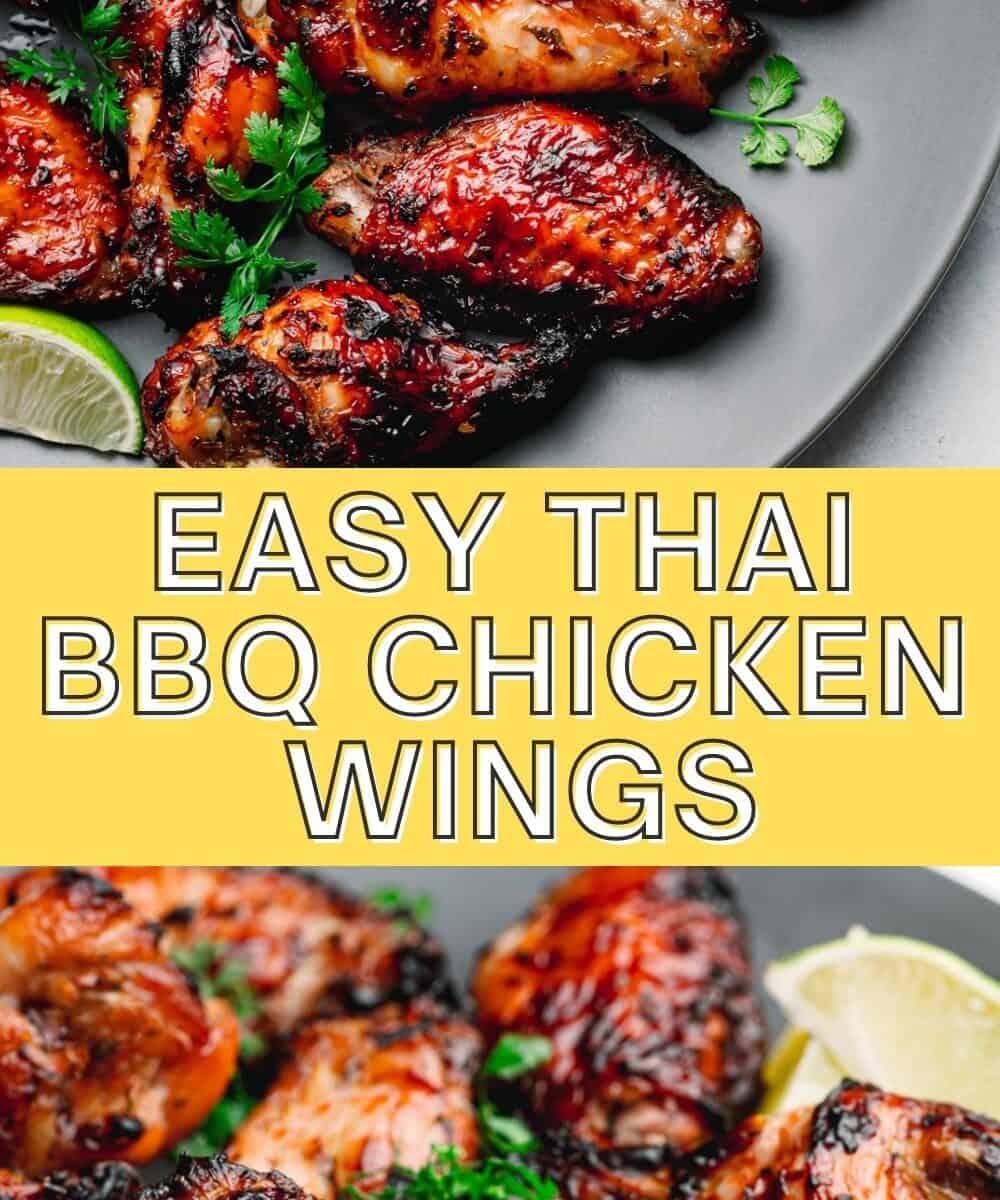 Thai BBQ Chicken Wings.