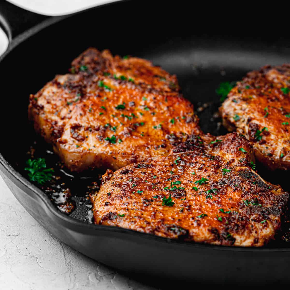 baked bone-in pork chops.
