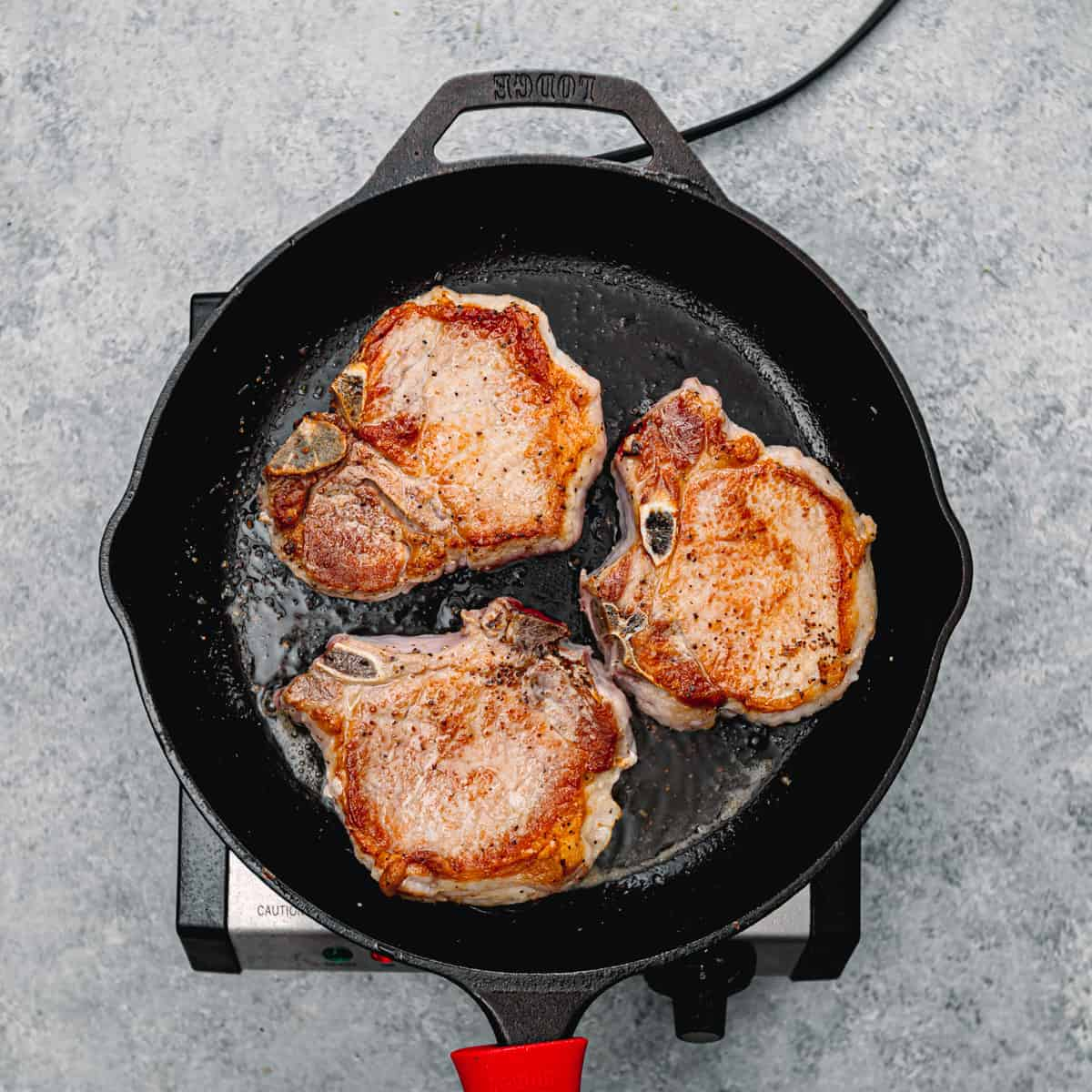 browned pork.