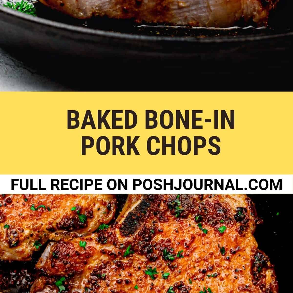 Baked Bone In Pork Chops Recipe.