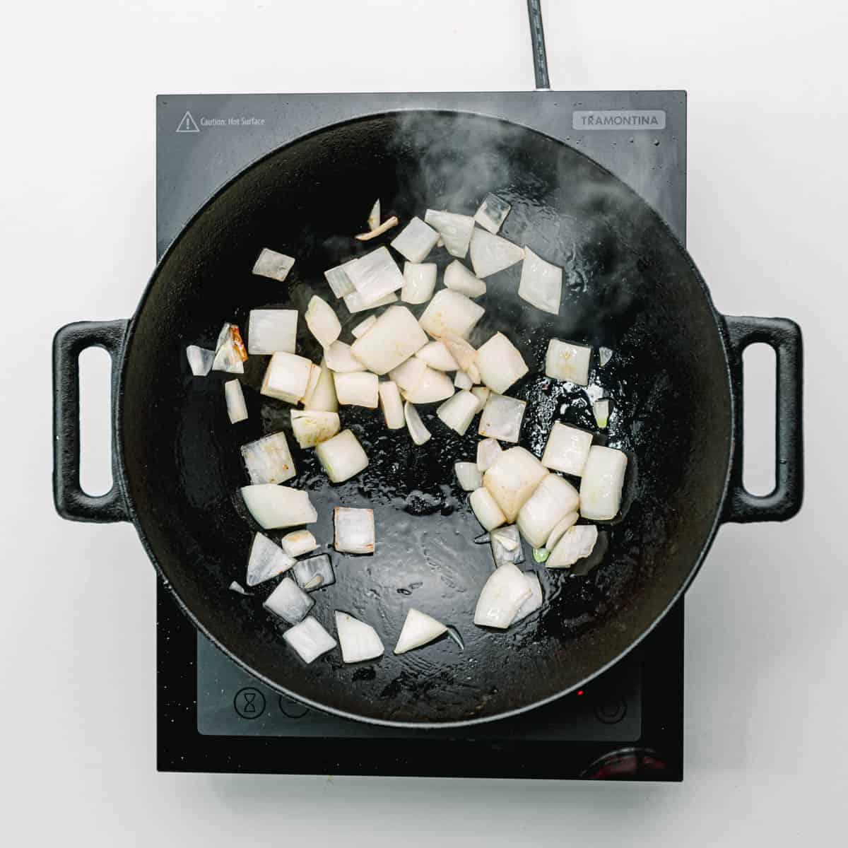 stir fry onion.