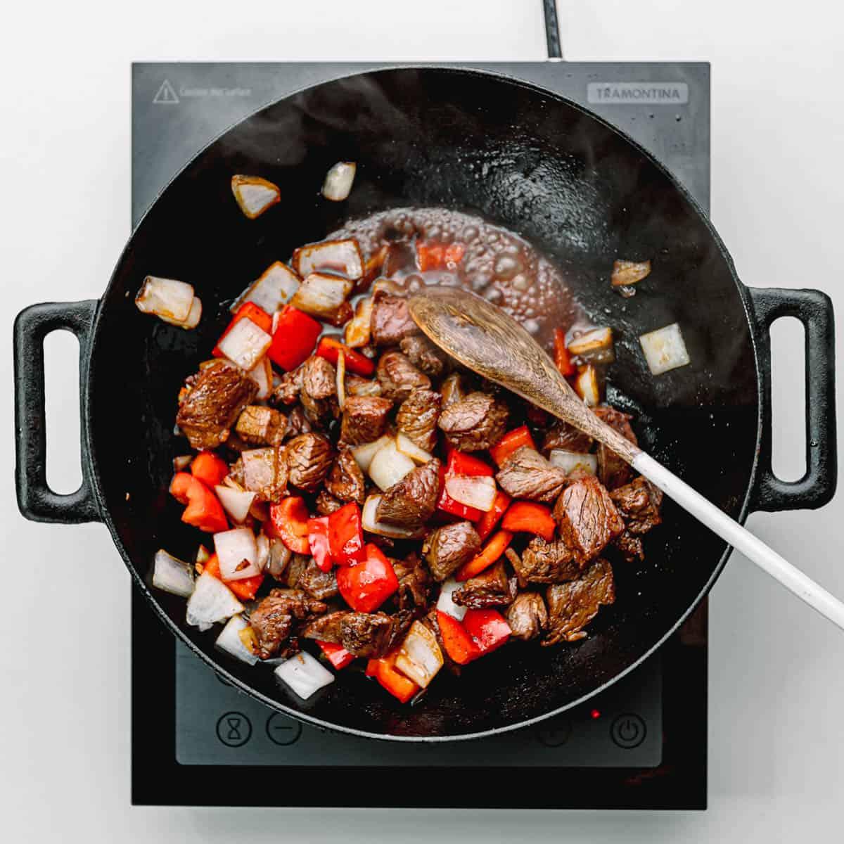 beef stir fry.