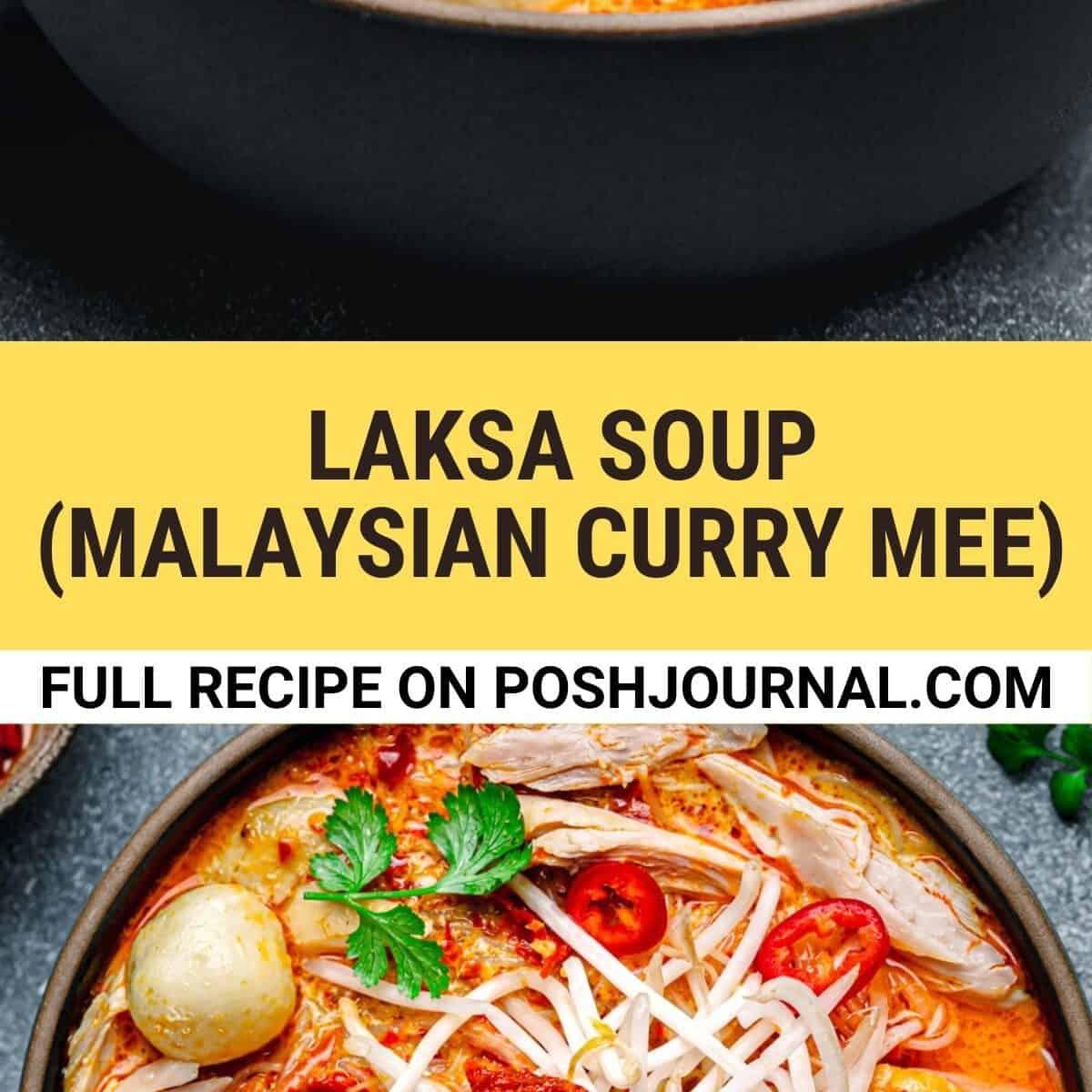 Laksa Soup Recipe pin.