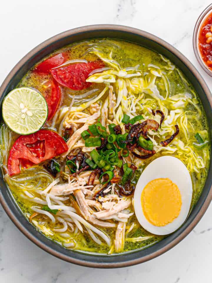 Soto Ayam Recipe Indonesian Chicken Soup.