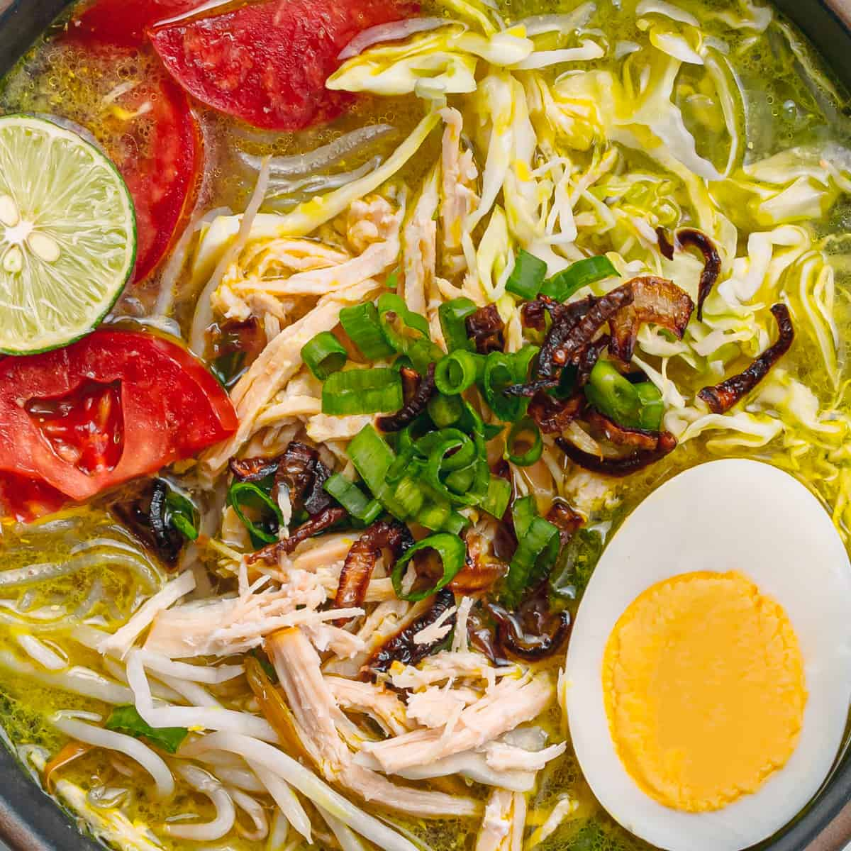 Soto Ayam Recipe (Indonesian Chicken Soup with Vermicelli)